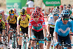 Red Jersey Miguel Angel Lopez Moreno (COL) Astana Pro Team loses the race lead as he and the main contenders cross the finish line at the end of Stage 6 of La Vuelta 2019 running 198.9km from Mora de Rubielos to Ares del Maestrat, Spain. 29th August 2019.<br /> Picture: Colin Flockton | Cyclefile<br /> <br /> All photos usage must carry mandatory copyright credit (© Cyclefile | Colin Flockton)