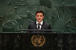 General Assembly Seventy-fourth session, 5th plenary meeting<br /> <br /> <br /> His Excellency Volodymyr Zelenskyy, President, Ukraine