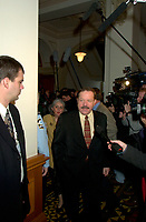 FILE PHOTO Jan 2001 Quebec, Canada<br /> <br /> Minister jacques Brassard at the National Assembly, Jan 2002<br /> <br /> <br /> <br /> <br /> Mandatory Credit: Photo by Pierre Roussel- Images Distribution. (&copy;) Copyright 2001 by Pierre Roussel <br /> <br /> NOTE : <br />  Nikon D-1 jpeg opened with Qimage icc profile, saved in Adobe 1998 RGB<br /> .Uncompressed  Original  size  file availble on request.<br /> <br /> Montreal (Qc) CANADA - File Photo -