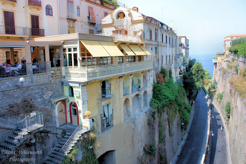 View of an interesting Sorrento street in Italy