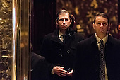 Eric Trump is seen upon his arrival in the lobby of Trump Tower in New York, NY, USA on December 14, 2016. Credit: Albin Lohr-Jones / Pool via CNP