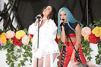 www.acepixs.com<br /> June 9, 2017 New York City<br /> <br /> Lauren Jauregui and Halsey performing on NBC's 'Today' at Rockefeller Plaza on June 9, 2017 in New York City. <br /> <br /> Credit: Kristin Callahan/ACE Pictures<br /> <br /> Tel: (646) 769 0430<br /> e-mail: info@acepixs.com