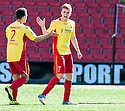 Albion's Chris Cadden (7) celebrates after he scores their first goal.
