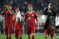 FUSSBALL   1. BUNDESLIGA  SAISON 2011/2012   12. Spieltag FC Augsburg - FC Bayern Muenchen         06.11.2011 Holger Badstuber , Philipp Lahm , Thomas Mueller , Toni Kroos (V.LI., FC Bayern Muenchen)