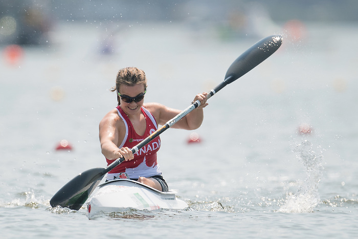 RIO DE JANEIRO - 14/9/2016:  Erica Scarff competes in the Women's KL3 Canoe Sprint at the Lagoa Stadium during the Rio 2016 Paralympic Games in Rio de Janeiro, Brazil. (Photo by Matthew Murnaghan/Canadian Paralympic Committee)