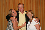 """OLTL's Jerry verDorn """"Clint Buchanan"""" poses with his fan club president Wendy Madore (R) and her sister Lori at the One Life To Live Fan Club Luncheon on August 16, 2008 at the New York Marriott Marquis, New York, New York.  (Photo by Sue Coflin/Max Photos)"""