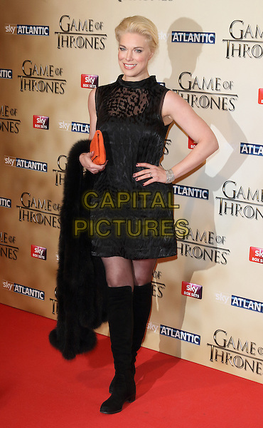 LONDON, ENGLAND - MARCH 18: Hannah Waddingham arrives for the world premiere of Game of Thrones Season 5 at Tower of London on March 18, 2015 in London, England<br /> CAP/ROS<br /> &copy; Steve Ross/Capital Pictures