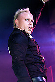 The Prodigy - vocalist Keith Flint -  performing live at the Brixton Academy, London UK - 03 Dec 2004.  Photo credit: George Chin/IconicPix