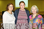 Pictured at the meeting on the school cuts at the Brandon hotel on Monday evening were l-r: Grainne O'Shea (St Joseph's Girls School Cahersiveen) Aoife O'Shea (Scoil Naisiunta  An Fhaill Mor Cahersiveen) Marion Prendergast (recently retired from Castledrum National School, Castlemaine)