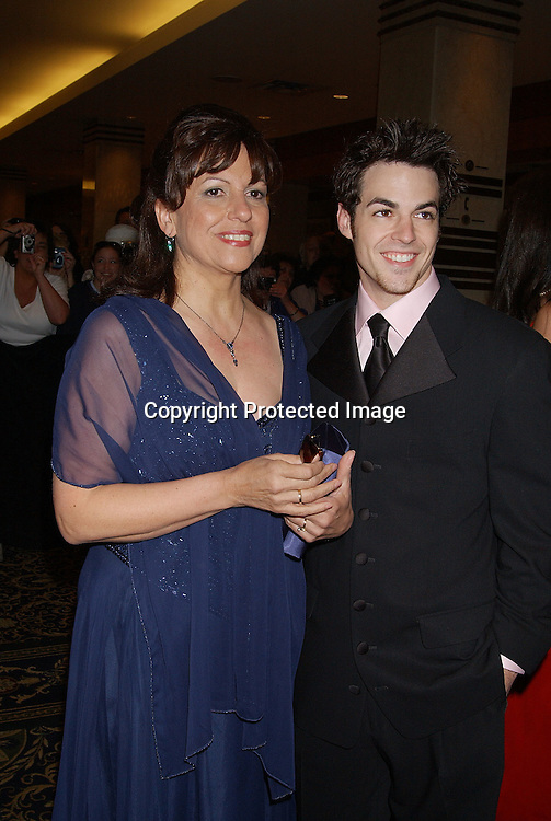 David Lagos & mom                               ..arriving at the Emmy Awards dinner at the Sheraton in ..New York City on May 16,2003 ...Photo by Robin Platzer, Twin Images