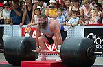 HAINAN ISLAND, CHINA - AUGUST 24:  Robert Oberst of USA competes at the Deadlift for Max event during the World's Strongest Man competition at Yalong Bay Cultural Square on August 24, 2013 in Hainan Island, China.  Photo by Victor Fraile
