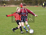 Drogheda Schoolboy league U-13 Tadhg O'Brien Midlands Schoolboy League David Greenwood. Photo:Colin Bell/pressphotos.ie