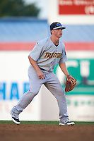 Trenton Thunder second basmean Tony Renda (9) during a game against the Binghamton Mets on August 8, 2015 at NYSEG Stadium in Binghamton, New York.  Trenton defeated Binghamton 4-2.  (Mike Janes/Four Seam Images)
