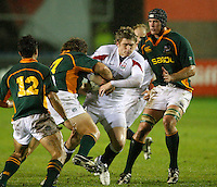 Photo: Richard Lane/Richard Lane Photography. England U20 v South Africa U20. Semi Final. 18/06/2008. England's Luke Eves attacks.