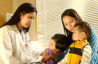 Pediatrician exam.