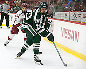 Kyle Criscuolo (Harvard - 11), Nick Bligh (Dartmouth - 23) - The Harvard University Crimson defeated the Dartmouth College Big Green 5-2 to sweep their weekend series on Sunday, November 1, 2015, at Bright-Landry Hockey Center in Boston, Massachusetts. -