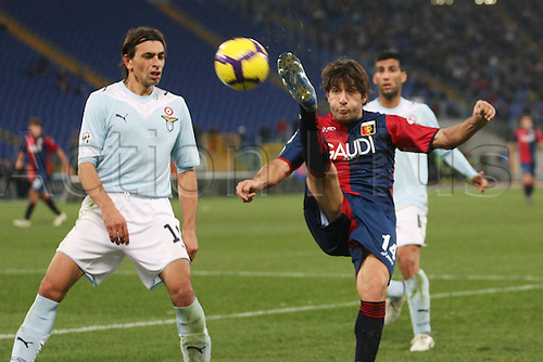 13th December 2009: Giuseppe Sculli Genoa in game action during the match for the Italian Serie A Soccer Lazio V.Genoa at the Olympic Satadium,Rome.Photo by Leonardo Cavallo/ActionPlus - Worldwide Editorial
