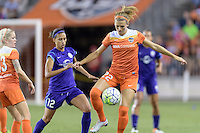 Stephanie Ochs (22) of the Houston Dash gains control of a loose ball against the Orlando Pride on Friday, May 20, 2016 at BBVA Compass Stadium in Houston Texas. The Orlando Pride defeated the Houston Dash 1-0.