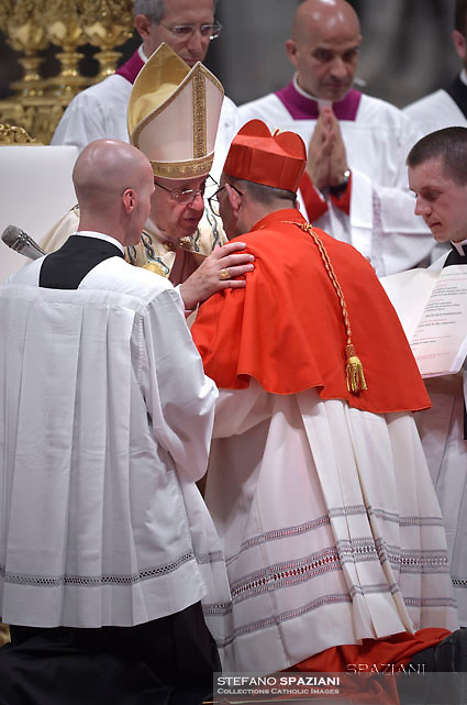 Cardinal Juan José Omella.Pope Francis leads a consistory for the creation of five new cardinals  at St Peter's basilica in Vatican.  from countries  : El Salvador, Laos, Mali,Sweden and Spain.<br /> Cardinal Gregorio Rosa Chavez from Salvador;Cardinal Louis-Marie Ling Mangkhanekhoun from Laos;Cardinal Anders Arborelius from Sweden;Cardinal Jean Zerbo from Mali;Cardinal Juan José Omella of Spainon June 28, 2017