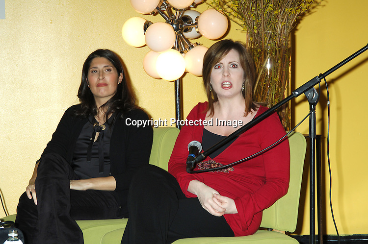 """Pilar Guzman, editor of Cookie Magazine and Martha Byrne..at The Children's Museum of Manhattan for the ..panel to introduce """"Role Mommy"""" I Need a Playdate"""" ..lecture series on January 26, 2006...Photo by Robin Platzer, Twin Images"""