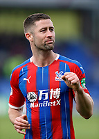 7th March 2020; Selhurst Park, London, England; English Premier League Football, Crystal Palace versus Watford; Gary Cahill of Crystal Palace celebrating towards the Crystal Palace fans after full time