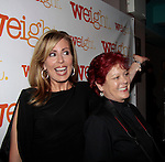As The World Turns Martha Bryne poses with Lisa Brown - Weight: The Series held its premiere party on October 8, 2014 at Galway Pub, New York City, New York. (Photo by Sue Coflin/Max Photos)
