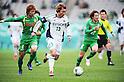 Shohei Takahashi (Verdy), Tetsuya Kijima (Matsumoto Yamaga),.MARCH 4, 2012 - Football / Soccer :.2012 J.League Division 2 match between Tokyo Verdy 2-0 Matsumoto Yamaga F.C. at Ajinomoto Stadium in Tokyo, Japan. (Photo by AFLO)