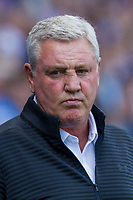 Aston Villa manager Steve Bruce ahead of the Sky Bet Championship match between Cardiff City and Aston Villa at the Cardiff City Stadium, Cardiff, Wales on 12 August 2017. Photo by Mark  Hawkins / PRiME Media Images.