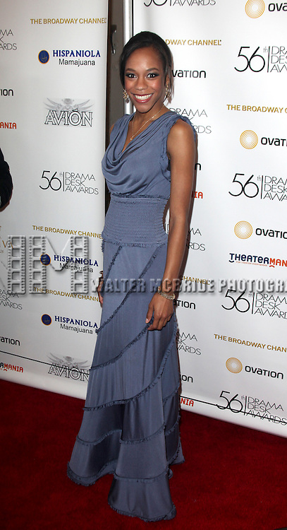 Nikki M. James.attending the 56th Annual Drama Desk Awards Arrivals at Hammerstein Ballroom in New York City.