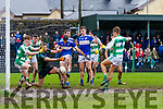 Adrian Spillane, Templenoe, has a shot at goal blocked in the dying moments of the AIB All Ireland Club Intermediate Semi Final between Templnoe and Oughterard at Kilmallock on Saturday.