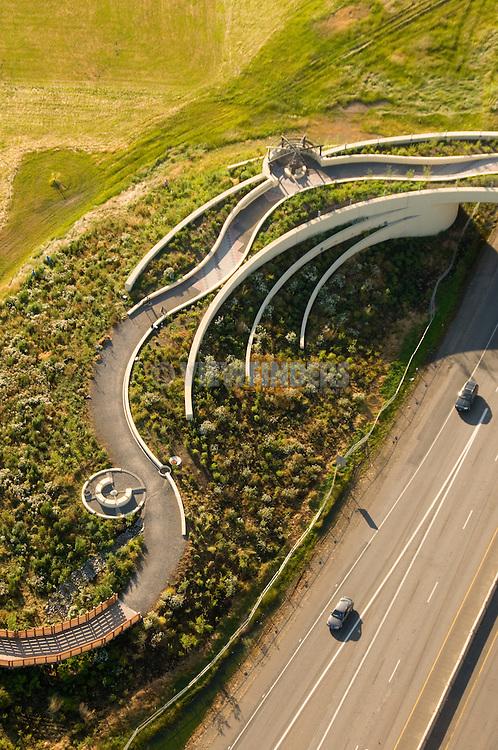 Aerial of the Vancouver Land Bridge, Washington