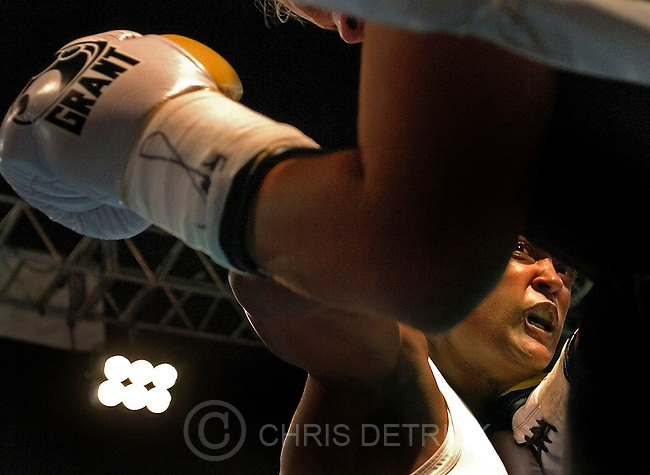 On Saturday July 17, 2004, Laila Ali, the youngest of Muhammad Ali's seven daughters, fought Nikki Eplion, 25, during the Main Event at the Bowie Bay Sox Stadium in Bowie, Md. Ali, 26, defended her 168-pound title for a fifth time in the super middleweight division fight. Using nearly every punch imaginable, Ali dropped Eplion at the 1:30 mark of the fourth round to remain undefeated (17-0).