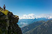 Pizzo Vogorno (2442 m) and Lake Maggiore, Ticino, Switzerland, august 2014.