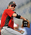 11 July 2008: Houston Astros' first baseman Lance Berkman warms up prior to a game against the Washington Nationals at Nationals Park in Washington, DC. The Nationals shut out the Astros 10-0 in the first game of their 3-game series...Mandatory Photo Credit: Ed Wolfstein Photo