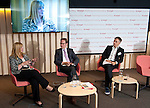 Brussels-Belgium - July 12, 2016 -- On the panel at Bruegel, a European think tank: MEP Kay Swinburne (le); Guntram Wolff  (ce), Director of Bruegel and chair of the panel; Gerhard Schick (ri), Member of the German Parliament (Bundestag) -- Photo © HorstWagner.eu