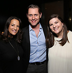 Eleni Gianulis, Michael McCorry Rose and Rachel Routh attend the Dramatists Guild Fund's Intimate Salon with Dave Malloy at Stella Tower on June 7, 2017 in New York City.
