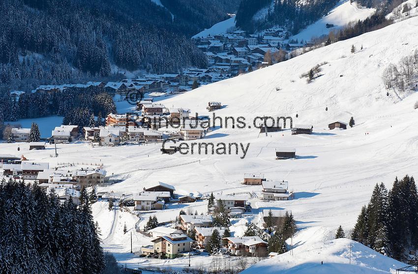 Austria, Tyrol, Ziller Valley Arena, Gerlos: popular ski resort at Gerlos Valley | Oesterreich, Tirol, Zillertal-Arena, Gerlos: beliebter Skiort im Gerlostal
