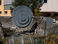 Sonnen- Brunnen in Imst. Tirol, &Ouml;sterreich, Europa<br /> sun fountain, Imst, Tyrol, Austria, Europe