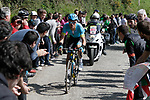 Luis Leon Sanchez (ESP) Astana Pro Team first up the Ixua a brutal 20% off road climb during Stage 5 of the Tour of the Basque Country 2019 running 149.8km from Arrigorriaga to Arrate, Spain. 12th April 2019.<br /> Picture: Colin Flockton | Cyclefile<br /> <br /> <br /> All photos usage must carry mandatory copyright credit (&copy; Cyclefile | Colin Flockton)
