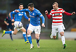 St Johnstone v Hamilton Accies...04.01.15   SPFL<br /> Michael O'Halloran and Grant Gillespie<br /> Picture by Graeme Hart.<br /> Copyright Perthshire Picture Agency<br /> Tel: 01738 623350  Mobile: 07990 594431