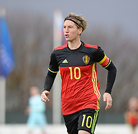 20171125 - TUBIZE , BELGIUM : Belgian Aline Zeler pictured during the friendly female soccer game between the Belgian Red Flames and Russia , Saturday 25 th November 2017 at the Belgian FA Euro 2000 Center in Tubize , Belgium. PHOTO SPORTPIX.BE | DAVID CATRY