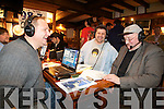Newcastlewest poet Jim Ronan talking with Bob Maschio from New Jersey based CBS Radio station 987thecoast.com did a live broadcast from Murphys bar Killarney on Tuesday morning in background is Denis Browne.