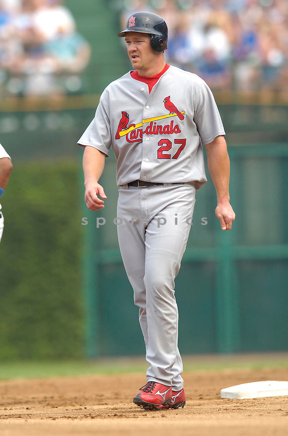 Scott Rolen, of the St. Louis Cardinals , in aciton against the Chicago Cubs on July 28, 2006in Chicago...Cubs win 6-5..Chris Bernachhi / SportPics