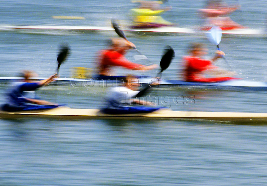 Double kayak race