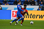 30.11.2019, PreZero-Arena, Sinsheim, GER, 1. FBL, TSG 1899 Hoffenheim vs. Fortuna Duesseldorf, <br /> <br /> DFL REGULATIONS PROHIBIT ANY USE OF PHOTOGRAPHS AS IMAGE SEQUENCES AND/OR QUASI-VIDEO.<br /> <br /> im Bild: Sebastian Rudy (TSG 1899 Hoffenheim #16) gegen Kasim Adams (Fortuna Duesseldorf #4)<br /> <br /> Foto © nordphoto / Fabisch