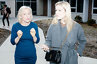 Democratic presidential candidate Senator Kirsten Gillibrand (D-NY) speaks to New York magazine reporter Olivia Nuzzi after a town hall campaign event at the Concord Parks and Recreation Community Center in Concord, New Hampshire, USA on Sat., Apr. 6, 2019.