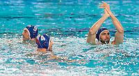 team ITA Niccolo Gitto<br /> FINA Men's Water Polo Olympic Games Qualifications Tournament 2016<br /> quarter final<br /> Romania ROU (White) Vs Italy ITA (Blue)<br /> Trieste, Italy - Swimming Pool Bruno Bianchi<br /> Day 06  08-04-2016<br /> Photo G.Scala/Insidefoto/Deepbluemedia