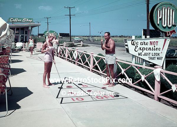 Seacomber Motel, Atlantic City, NJ 1950's Shuffleboard