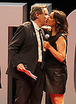 "The spanish journalists Inaki Gabilondo and Pepa Bueno during the Gala ""Contigo"" in celebration of the 90th anniversary of Radio Madrid Cadena SER. June 2, 2015. (ALTERPHOTOS/Acero)"