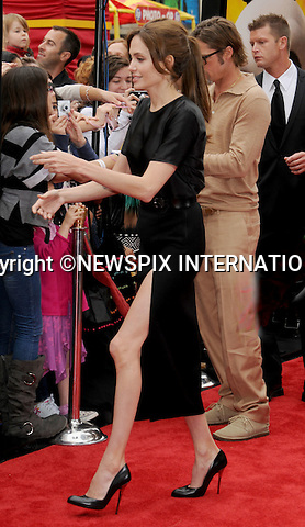 "ANGELINA JOLIE LOOKING RAKISH.at the Los Angeles Premiere of ""Kung Fu Panda 2"",  Grauman's Chinese Theatre, Hollywood, California_22/05/2011.Mandatory Photo Credit: ©Crosby/Newspix International..**ALL FEES PAYABLE TO: ""NEWSPIX INTERNATIONAL""**..PHOTO CREDIT MANDATORY!!: NEWSPIX INTERNATIONAL(Failure to credit will incur a surcharge of 100% of reproduction fees)..IMMEDIATE CONFIRMATION OF USAGE REQUIRED:.Newspix International, 31 Chinnery Hill, Bishop's Stortford, ENGLAND CM23 3PS.Tel:+441279 324672  ; Fax: +441279656877.Mobile:  0777568 1153.e-mail: info@newspixinternational.co.uk"